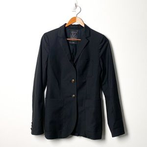 Talula Wool Structured Blazer Black Suit Jacket